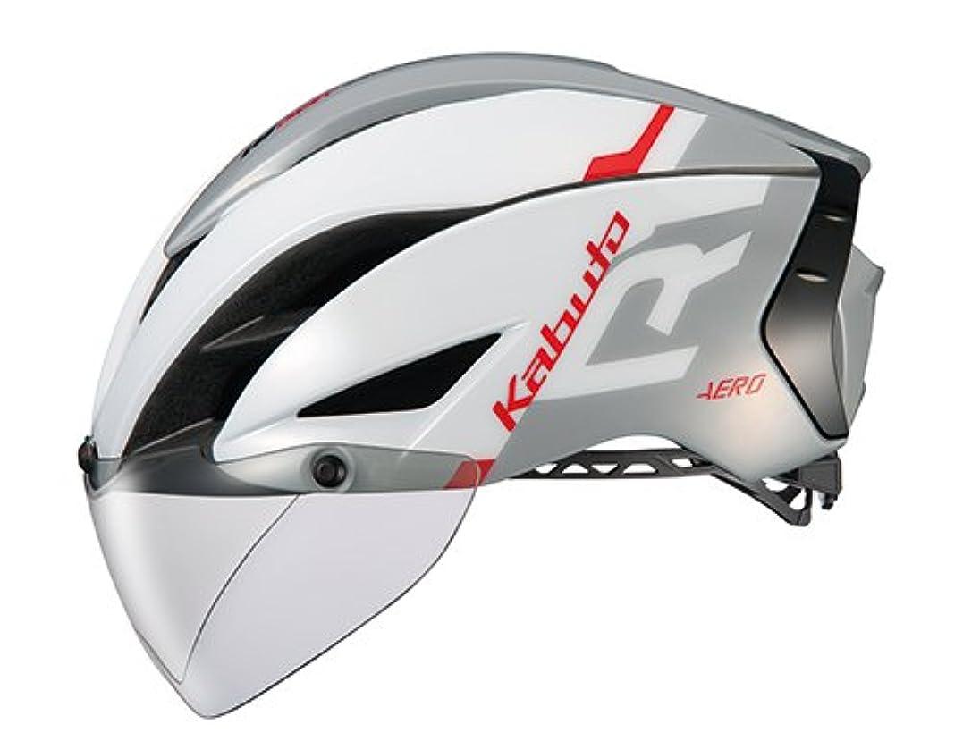特権食事確かめるOGK KABUTO(オージーケーカブト) ヘルメット AERO-R1 ホワイトライトグレー L/XL (頭囲:59cm-61cm)