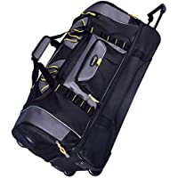 Travelers Club Luggage Sierra Madre 36 Inch Two Toned 2-section Rolling Duffel, Black/gray Duffel Bag