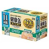 (まとめ)アイシア 11歳からの健康缶 かつお40g×6P 【猫用・フード】【ペット用品】【×12セット】