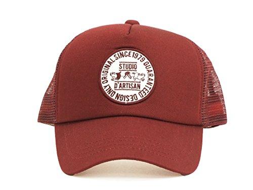 (ステュディオ・ダ・ルチザン) STUDIO D'ARTISAN メッシュキャップ 7433 メンズ 帽子 バーガンディー (メンズフリーサイズ)