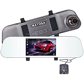 ドライブレコーダー ルームミラー型 MAYOGA A80 防水バックカメラ付 ミラー ドラレコ 5.0インチ液晶モニター フロントカメラ 高画質1080p フルHD 1200万画素 広視野角 170 フロント 同時録画 WDR HDR Gセンサー搭載 ループ録画 駐車監視モード 暗視機能 常時録画 本体バッテリー内蔵