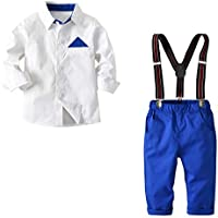 HappyTop 2PCS Boys' Suit, Little Gentleman, Wedding Suit for Boys, Baby Party Suit and Tie, 2-8 Years Old