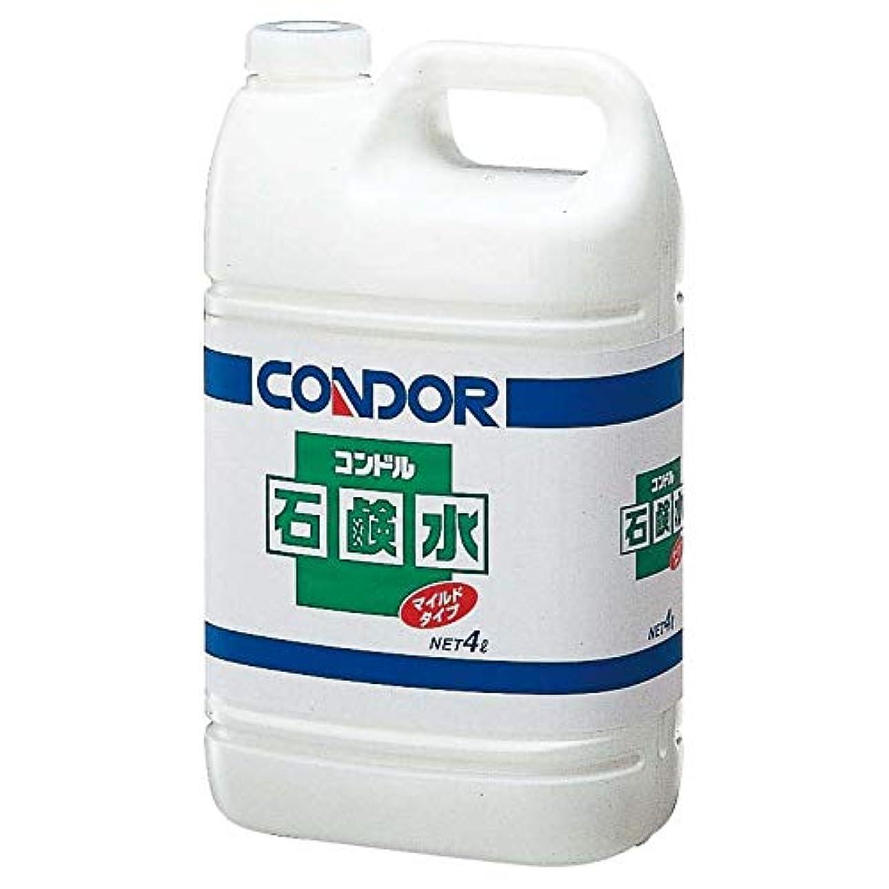 大学院効果的にメーカー【清潔キレイ館】コンドル 石鹸水(4L)