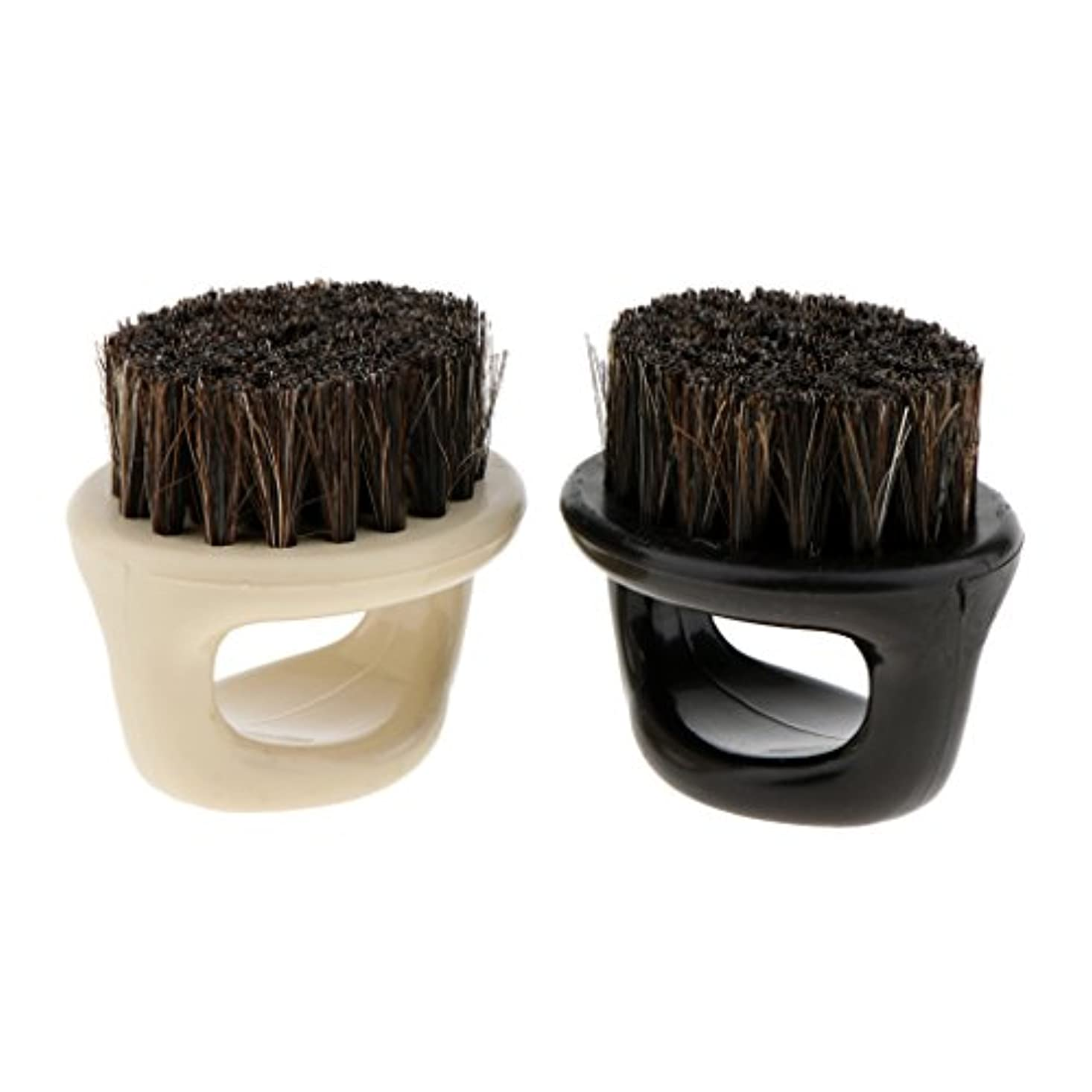 保証記憶に残るピケPerfk 2個 シェービングブラシ メンズ 理容 洗顔 髭剃り