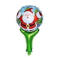 BESTOYARD 6本アルミホイルバルーンクリスマスバルーンサンタクロース型バルーンパーティー用品ホリデーデコレーション