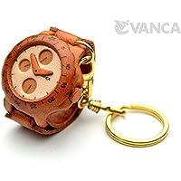 腕時計 本革製 立体キーホルダー VANCA CRAFT 革物語 (日本製 ハンドメイド)