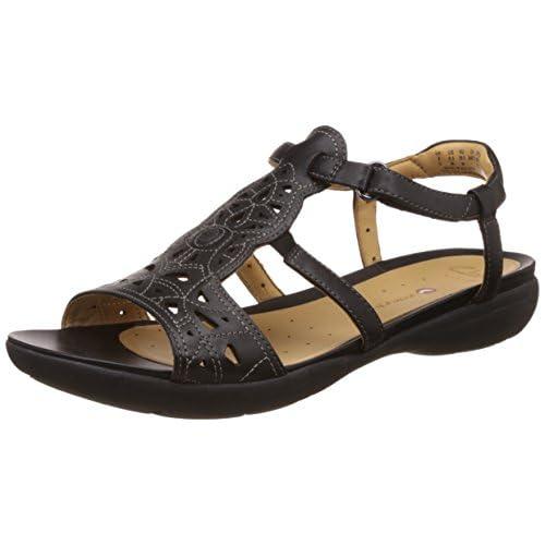 [クラークス] Clarks サンダル Un Valencia 26116423 Black Leather (ブラックレザー/UK 035)