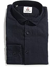 (ギローバー) GUY ROVER 綿麻混 タイニーカラー シャツ/ドレスシャツ [並行輸入品]