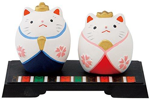 昭峰作 猫の置物 四季の福猫 お雛様 12-267