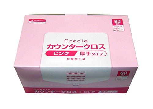 クレシア カウンタークロス厚手 ピンク 60枚