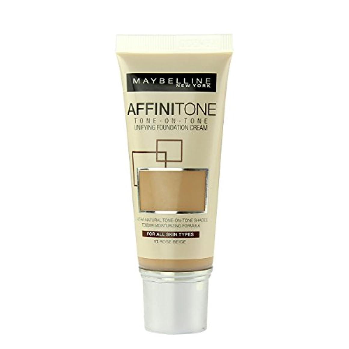 気候ファン麻酔薬(17 ROSE BEIGE) - Maybelline Affinitone Perfecting And Protecting Foundation 30ml-17 Rose Beige