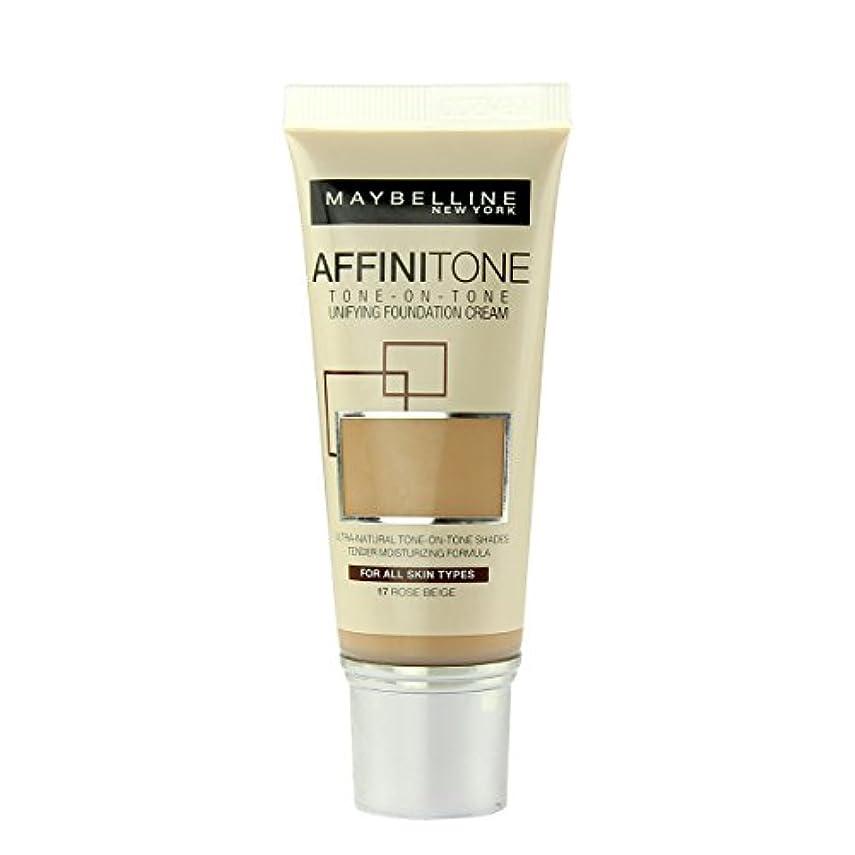 本気孤独なメイト(17 ROSE BEIGE) - Maybelline Affinitone Perfecting And Protecting Foundation 30ml-17 Rose Beige