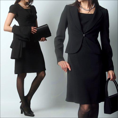 (エイメル) Amel 【ブラックフォーマル】「女優になれると噂の美喪服」テーラードジャケット×エンパイアワンピーススーツ2点セット 7号