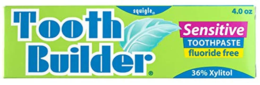 オープニング読者撤退Squigle Tooth Builder Sensitive Toothpaste (4 Oz) by Khun Yod Inter