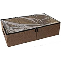[QIFENGDIANZI]布団収納袋 衣類収納ケース ベッド下収納 大容量 片づけ 引っ越しバッグ 運搬 防水防塵 湿気防止 カビ対策 水洗い 通気性抜群 コーヒー 70*40*18CM