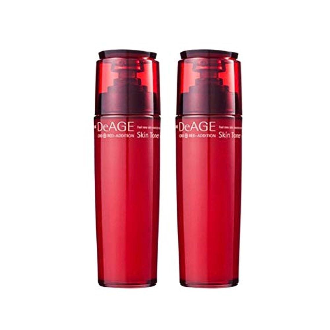 組み合わせ騙す十分にチャムジョンディエイジレッドエディションスキントナー130ml x 2、Charmzone DeAGE Red-Addition Skin Toner 130ml x 2 [並行輸入品]