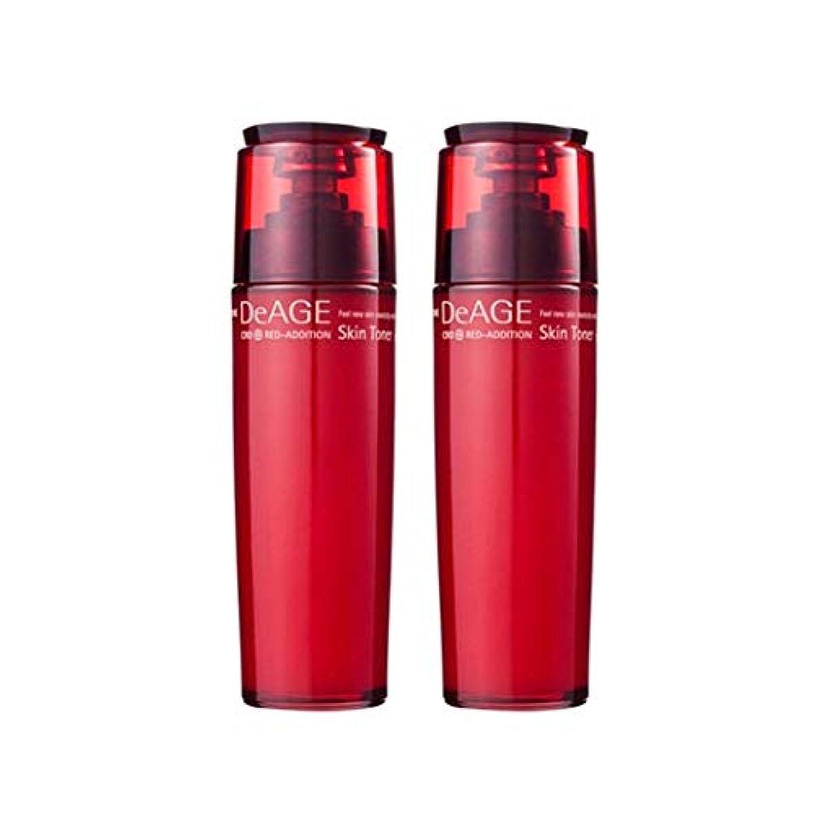 雄弁な不道徳熱心チャムジョンディエイジレッドエディションスキントナー130ml x 2、Charmzone DeAGE Red-Addition Skin Toner 130ml x 2 [並行輸入品]
