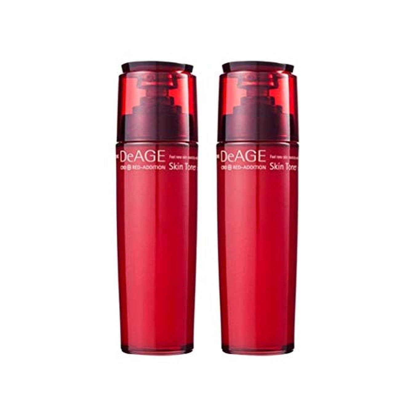 子供っぽいどこ消去チャムジョンディエイジレッドエディションスキントナー130ml x 2、Charmzone DeAGE Red-Addition Skin Toner 130ml x 2 [並行輸入品]