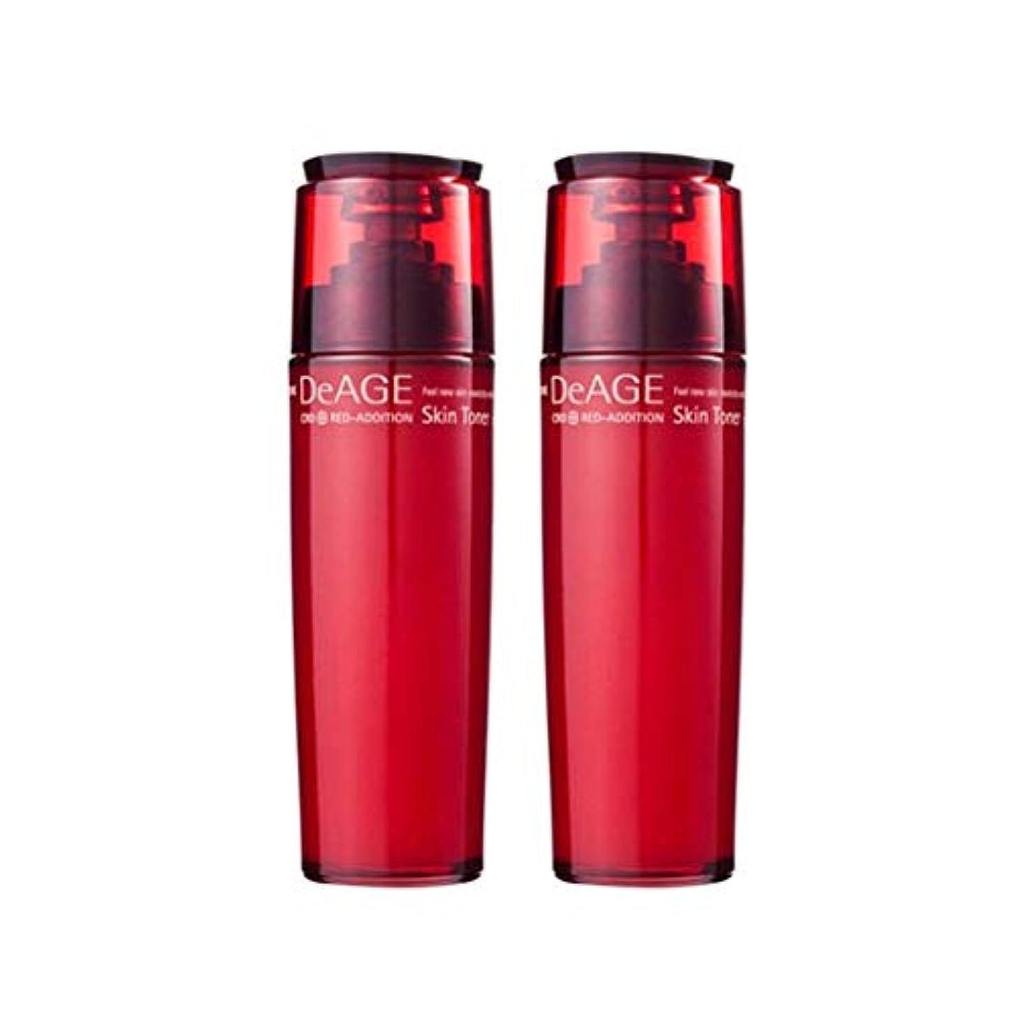アナロジー岩娘チャムジョンディエイジレッドエディションスキントナー130ml x 2、Charmzone DeAGE Red-Addition Skin Toner 130ml x 2 [並行輸入品]