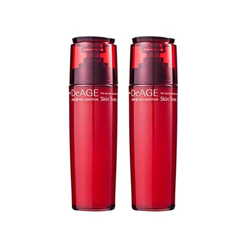 ペット現金遅らせるチャムジョンディエイジレッドエディションスキントナー130ml x 2、Charmzone DeAGE Red-Addition Skin Toner 130ml x 2 [並行輸入品]