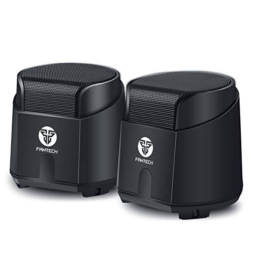 pcスピーカー 小型 usb電源 6Wパワフル出力 pc/テレビ/MP3/タブレット/スマホに対応 pc用スピーカー 2chステレオ 重低音 3.5mmミニプラグ usbスピーカー【改良版】