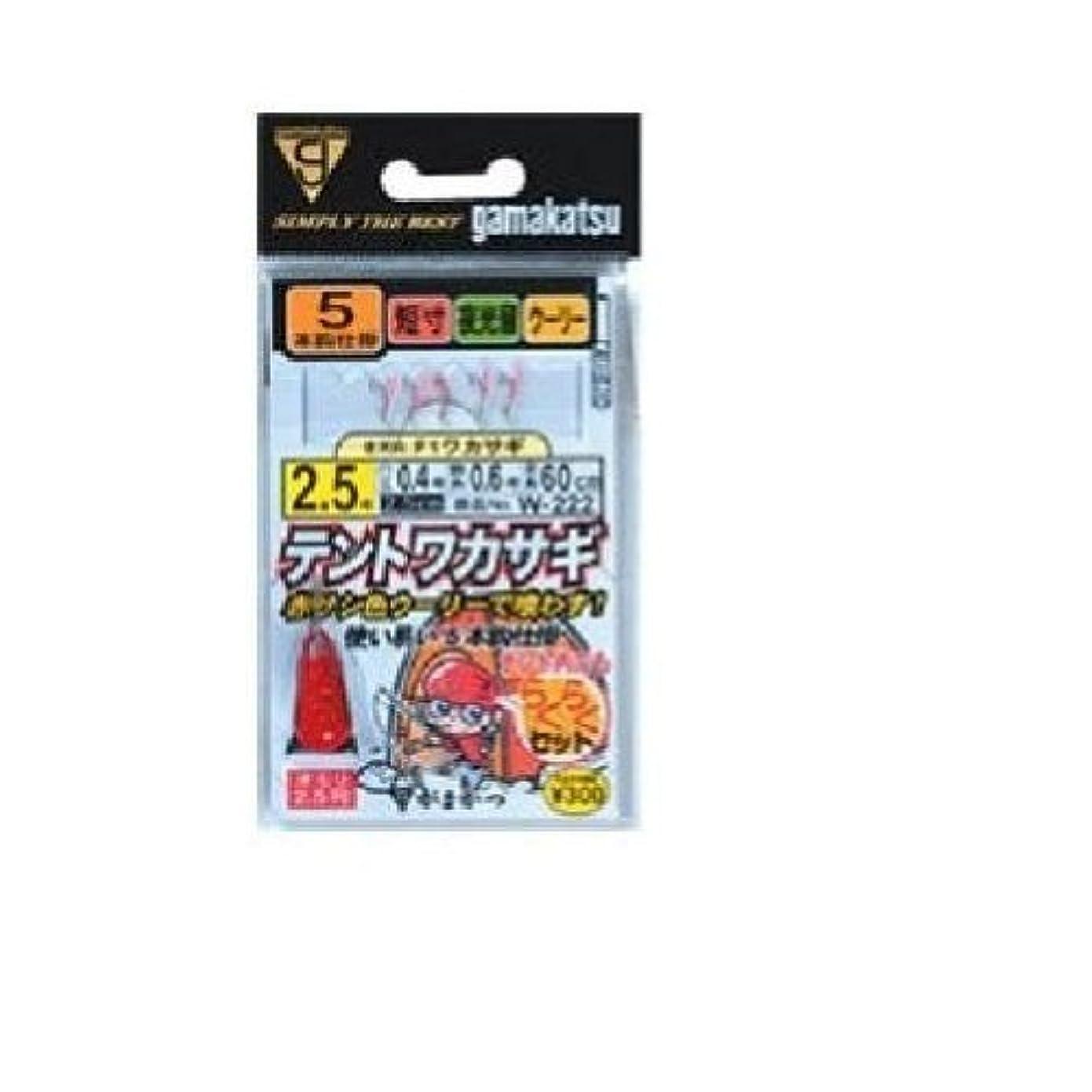 習熟度内陸ノーブルがまかつ(Gamakatsu) テントワカサギ秋田狐ヒネリ 5本 W-222