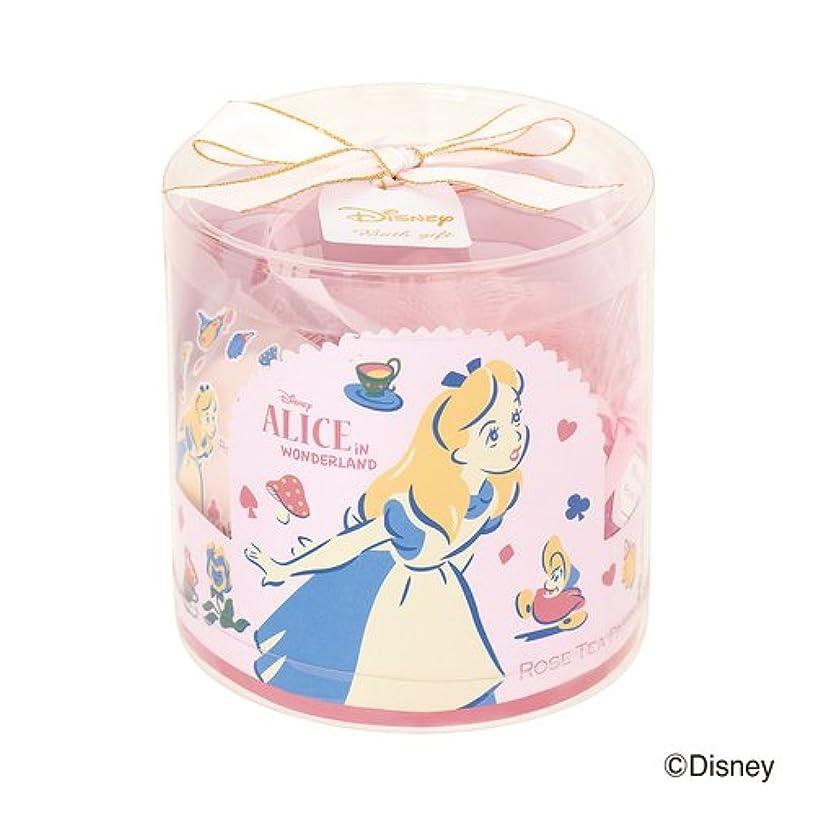 パッチ宣伝高価なディズニーフレグランスコレクション バスギフト4点セット アリス ローズティーパーティー(爽やかでやさしいバラの香り)
