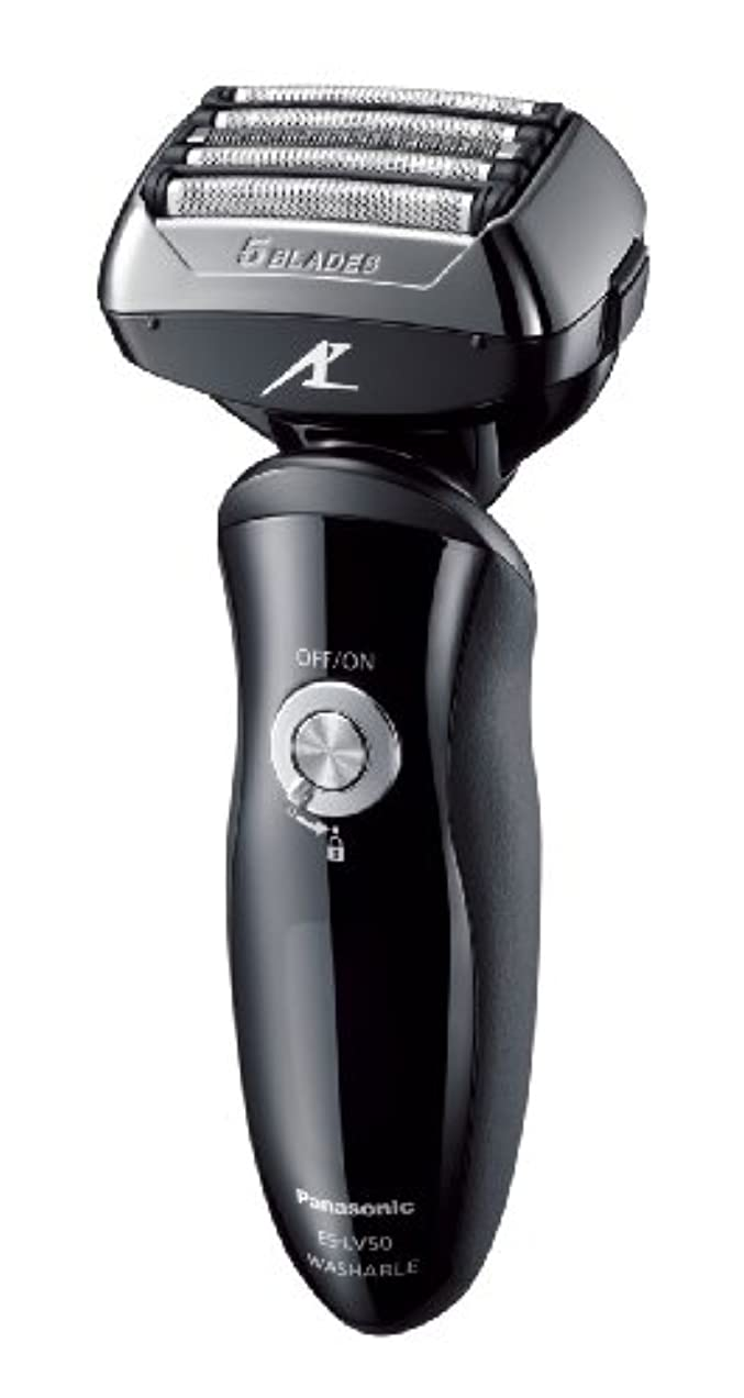 固体尊厳学習パナソニック ラムダッシュ メンズシェーバー 5枚刃 黒 ES-LV50-K