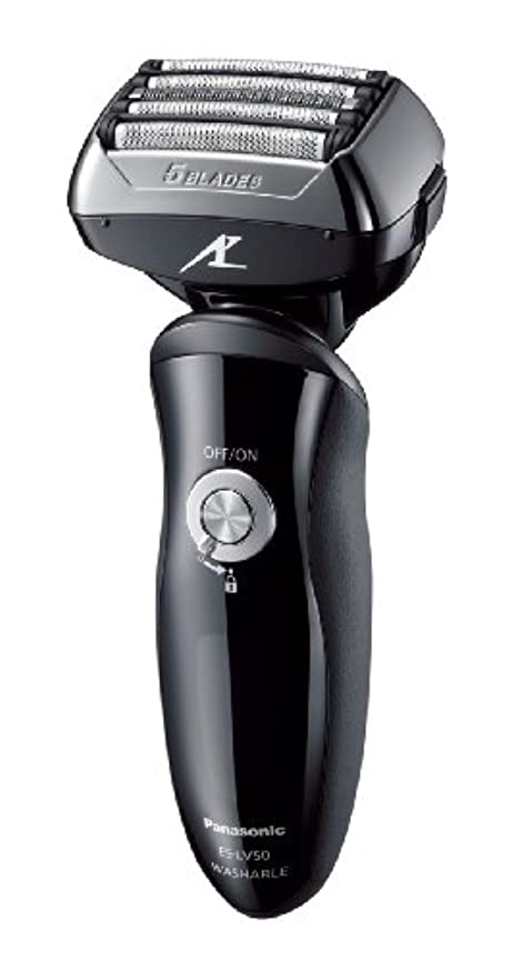 角度割り当て逸脱パナソニック ラムダッシュ メンズシェーバー 5枚刃 黒 ES-LV50-K