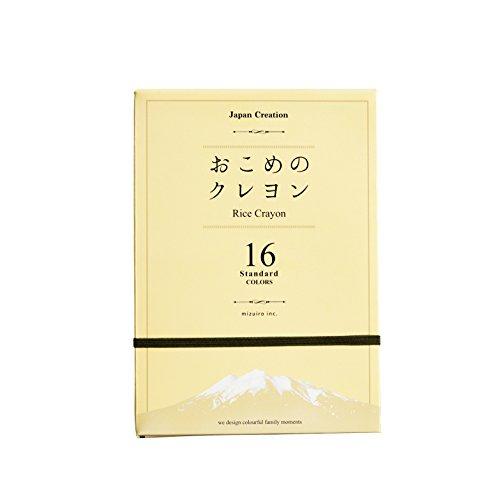 [해외]おこめ 크레용 16 색 세트 standard ST-RICE02/Okonomiya crayon 16 color set standard ST - RICE 02