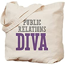 CafePress - Public Relations DIVA - Natural Canvas Tote Bag, Cloth Shopping Bag