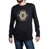 NHL Mens Loose Fit Performance Rashguard Wicking Long Sleeve Shirt