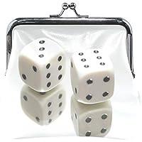 がま口 財布 口金 小銭入れ ポーチ サイコロ Jiemeil バッグ かわいい 高級レザー レディース プレゼント ほど良いサイズ