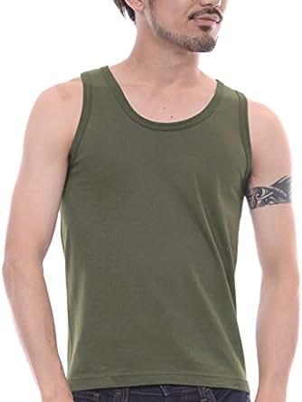 ティーシャツドットエスティー タンクトップ 無地 インナー 6.2oz メンズ アーミーグリーン XS