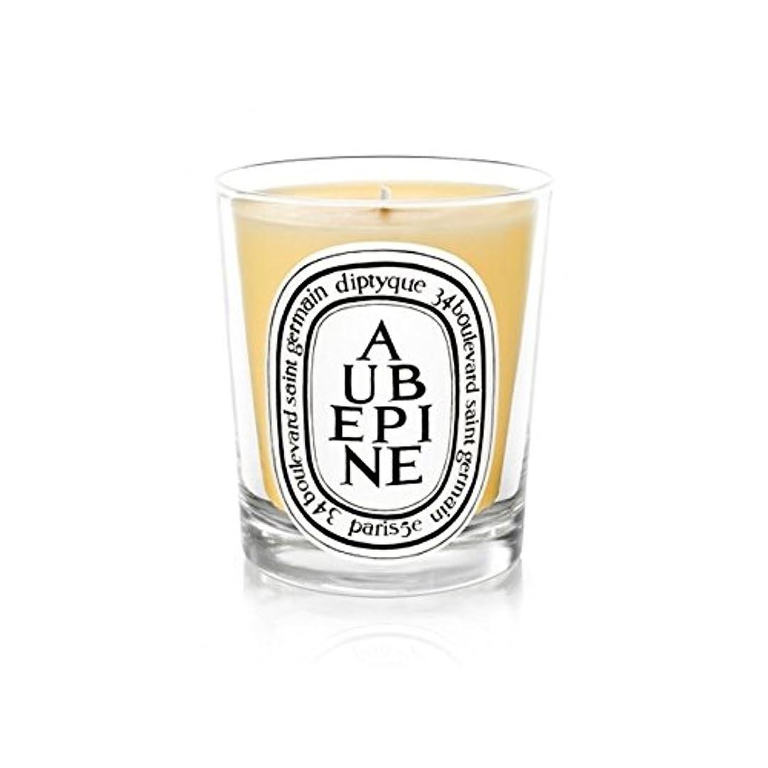 ここに瞳性差別Diptyque Candle Aub?pine / Hawthorn 190g (Pack of 6) - DiptyqueキャンドルAub?pine/サンザシ190グラム (x6) [並行輸入品]