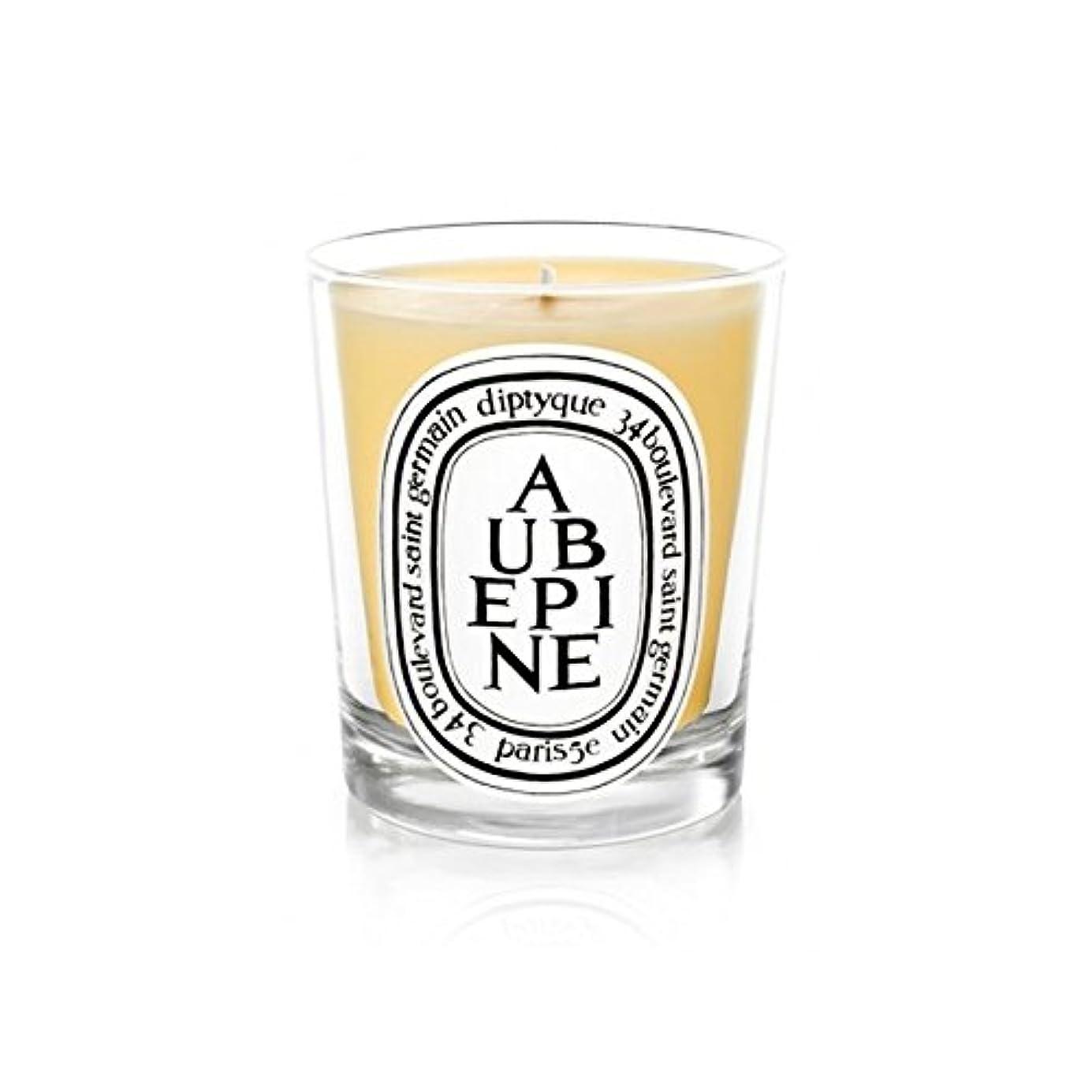 地雷原遠征独立してDiptyque Candle Aub?pine / Hawthorn 190g (Pack of 6) - DiptyqueキャンドルAub?pine/サンザシ190グラム (x6) [並行輸入品]