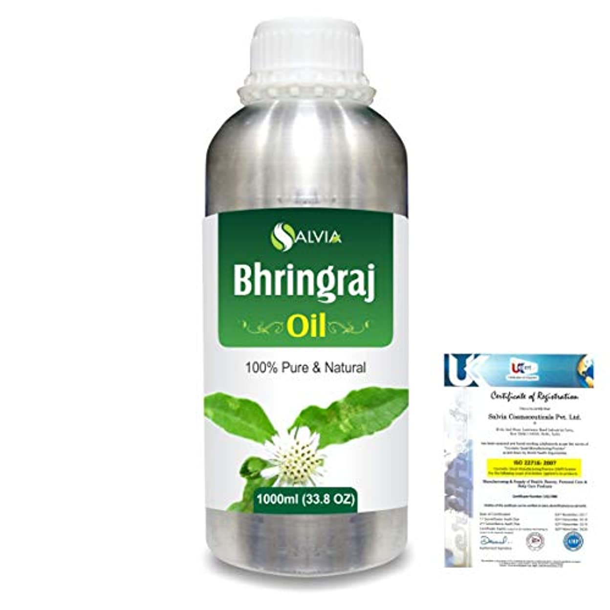 家庭教師素晴らしさ放射能Bhringraj 100% Natural Pure Oil 1000ml/33.8fl.oz.