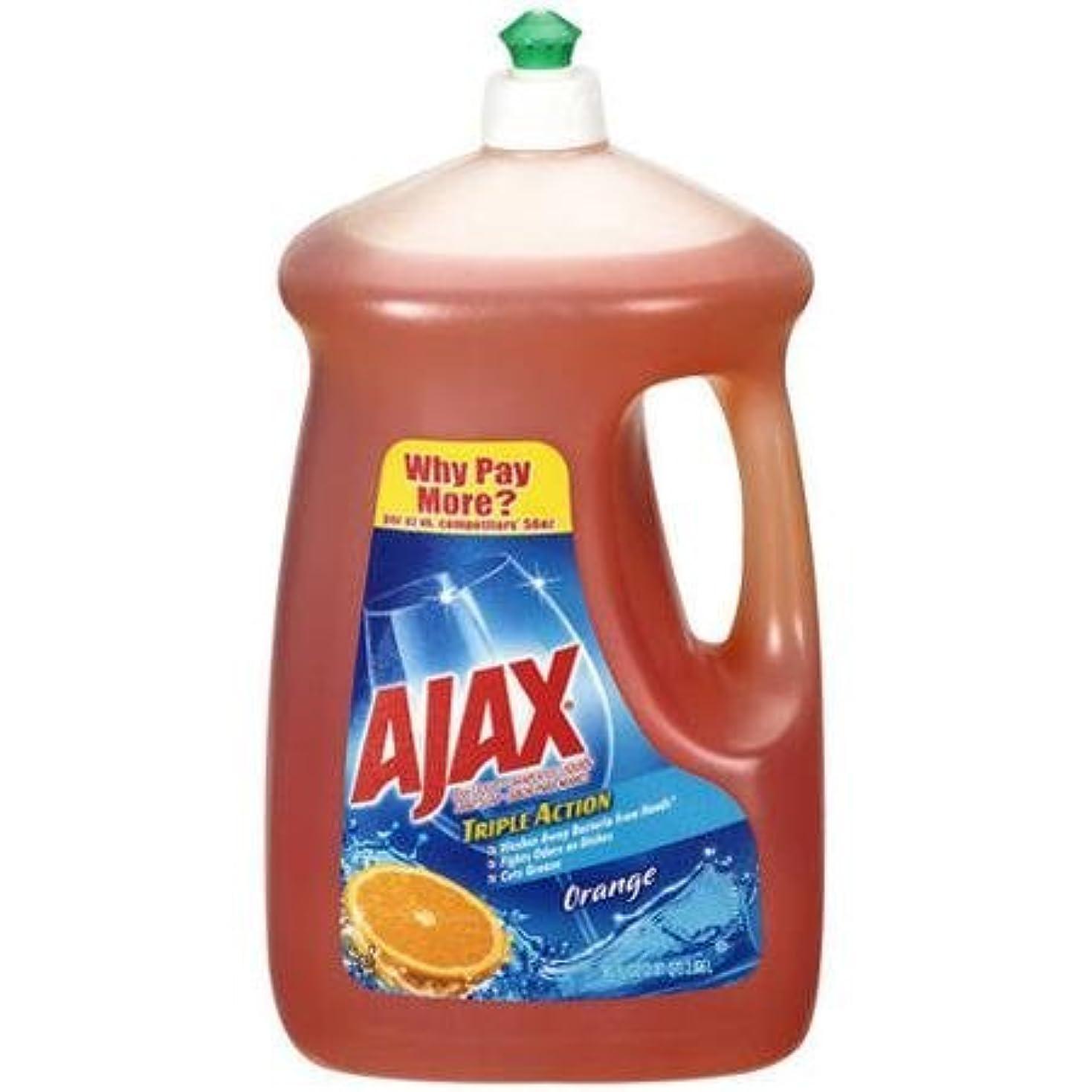 事務所全国再発するAjax Triple Action Orange Dish & Hand Soap, 90 Oz, Cuts Grease, Fights Odors, Washes Away Dirt and Bacteria by...
