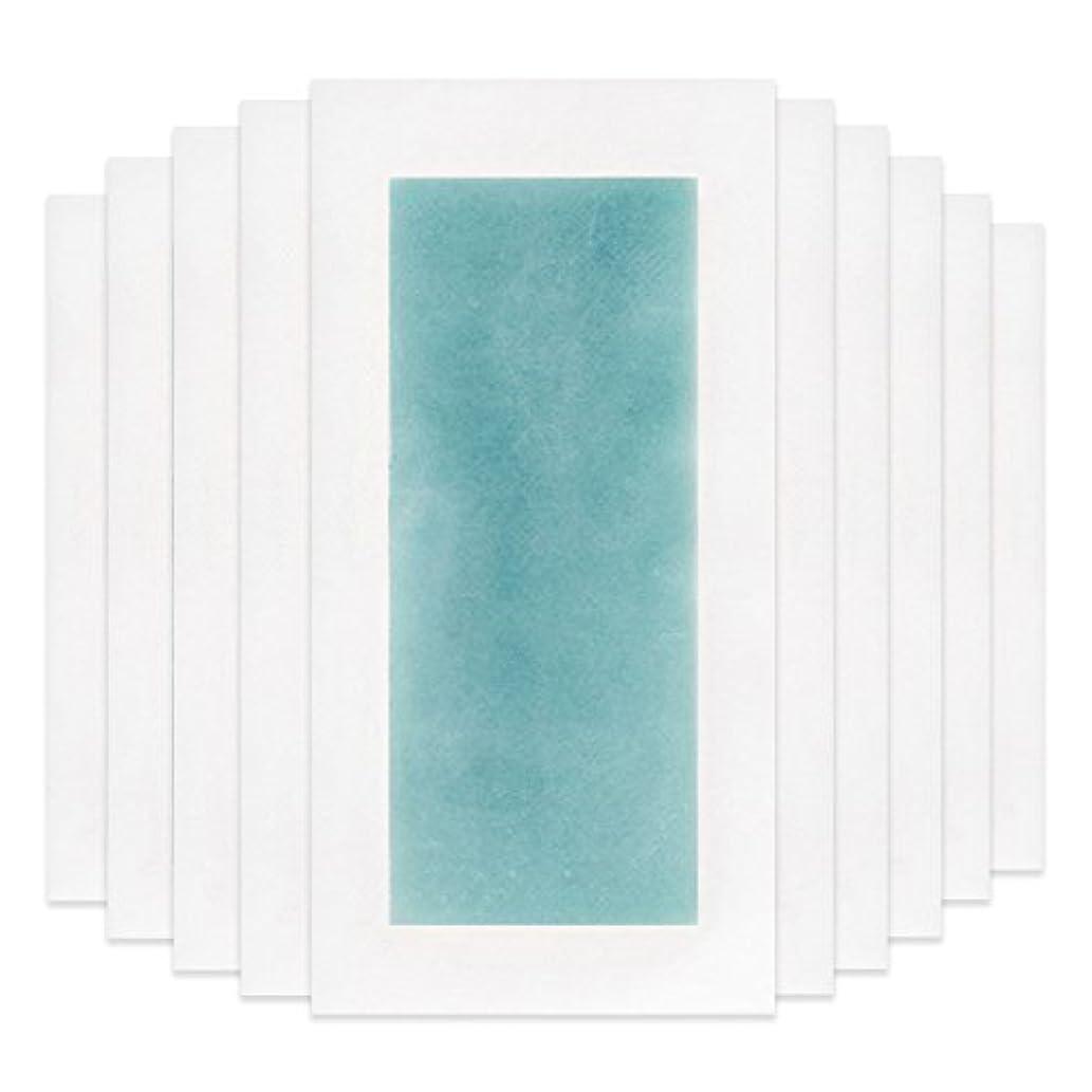 堤防やがてプレゼンターRaiFu 脱毛 コールド ワックス ストリップ 紙 脱毛紙 プロフェッショナル 夏の脱毛 ダブル サイド ボディ除毛 10個 ブルー