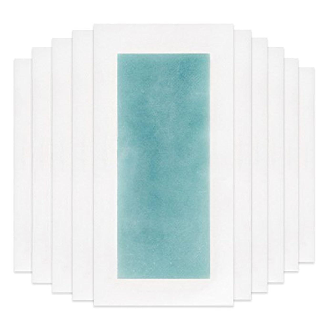 対処するつば同様にRaiFu 脱毛 コールド ワックス ストリップ 紙 脱毛紙 プロフェッショナル 夏の脱毛 ダブル サイド ボディ除毛 10個 ブルー