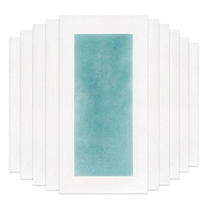 ダルセット効能ある手錠RaiFu 脱毛 コールド ワックス ストリップ 紙 脱毛紙 プロフェッショナル 夏の脱毛 ダブル サイド ボディ除毛 10個 ブルー