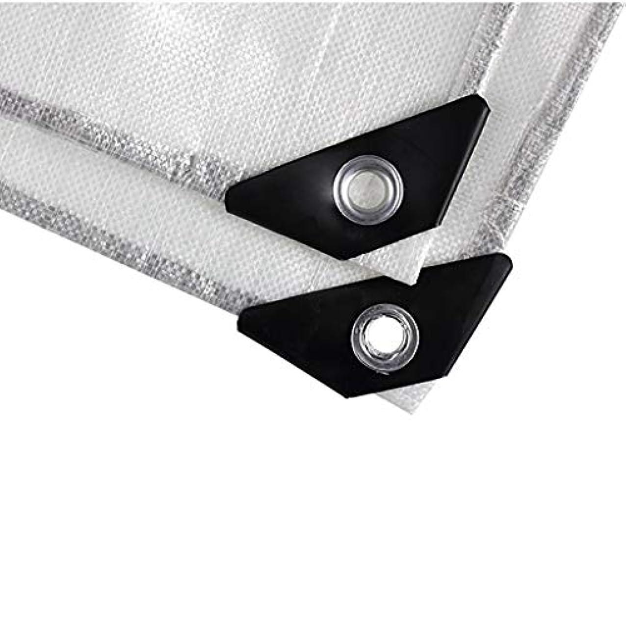 誘惑会社勧めるタープ ハンモックタープヘビーデューティターポリン(グロメットと強化エッジ付き)、プラスチック製タープ4m×4m 15ミル厚 テント (Color : White, Size : 4m×4m)