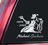 Michael Jackson 1958 - 2009 Vinyl Decal Sticker - Shiny Chrome 5.5cm x 14.5cm マイケル・ジャクソン [並行輸入品]