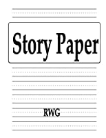 Story Paper: 100 Pages 8.5 X 11