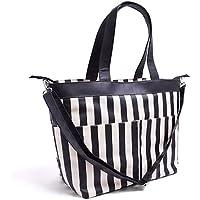 マザーズバッグ(トートタイプ) モノトーン  wide stripe(twill?black) B2701000