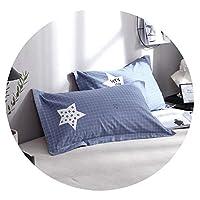 綿の枕カバー48X74綿の枕カバー綿の枕カバー枕バッグ枕革の綿の枕カバー,21,48 * 74 cm * 2