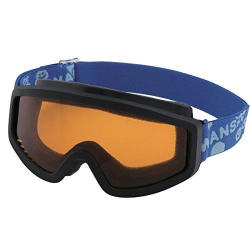 【国産ブランド】SWANS(スワンズ) 子供用 スキー スノーボード ゴーグル 3歳?10歳 シングルレンズ シングルレンズ 101S-OR BKBL ブラック×ブルー