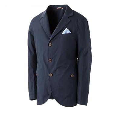 Anissej Stretch Cotton Travel Jacket: Navy