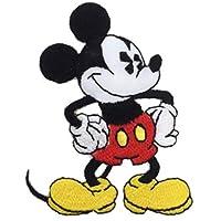 ディズニー ワッペン 刺繍ワッペン キャラクター アイロン接着 縦7.3cm×横5.7cm ミッキー ディズニー Disney アイロンワッペン アップリケ 手芸 正規品