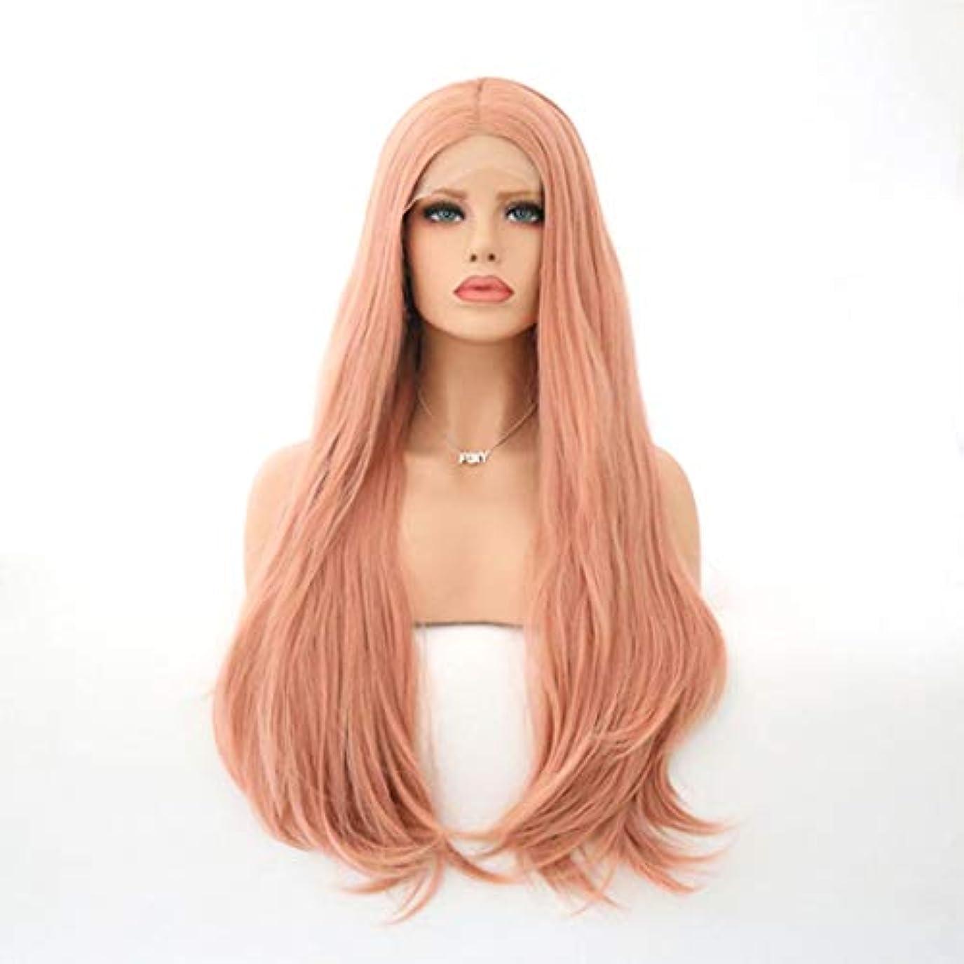 拡散する割れ目うまくやる()Kerwinner 女性のための自然な長い巻き毛のかつらの代わりとなるかつら合成繊維の毛髪のかつら